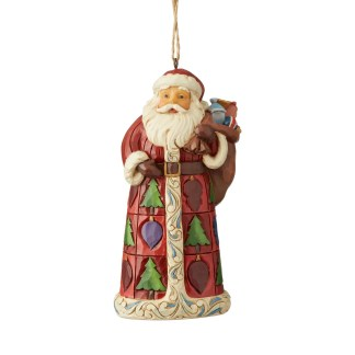 Otto's Granary Santa with Toy Bag Ornament by Jim Shore Heartwood Creek