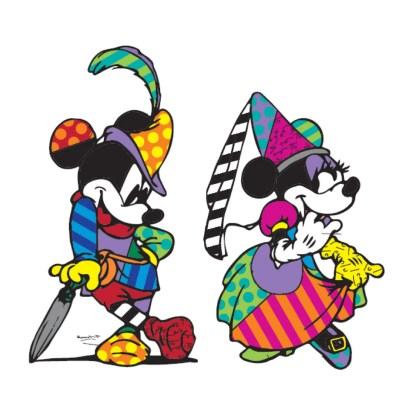 Otto's Granary Mickey Mouse and Minnie Mouse Disney by Britto Figurine