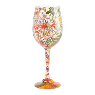 Otto's Granary Thankful For Wine 15oz. Wine Glass by Lolita