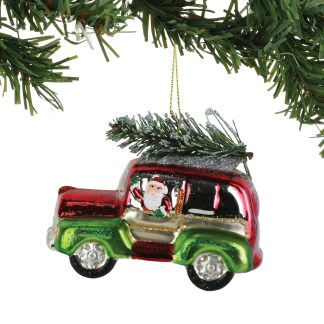 Otto's Granary Christmas GLM Red & Green SUV Ornament by Dept 56