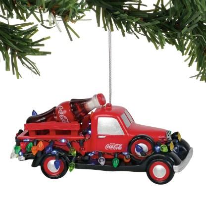 Otto's Granary Light Up Coke Truck Ornament by Dept 56