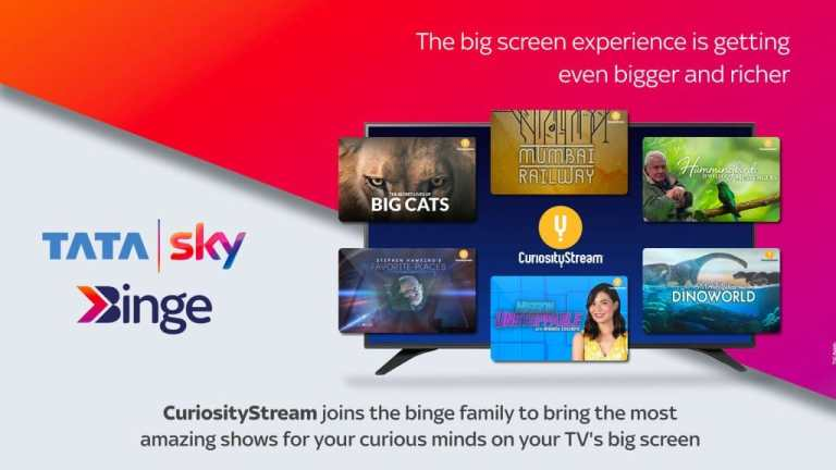 CuriosityStream and Tata Sky Tie Up