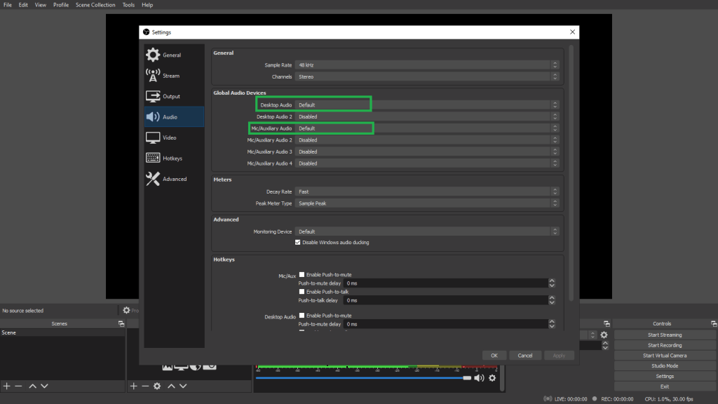 Set up OBS Studio for Recording