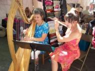 Susan and Amy Wilson on Flute at the Decatur Book Fair 2011