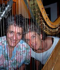 """In studio with Elise Witt recording my song """"Singing in my Sleep"""" for her album"""