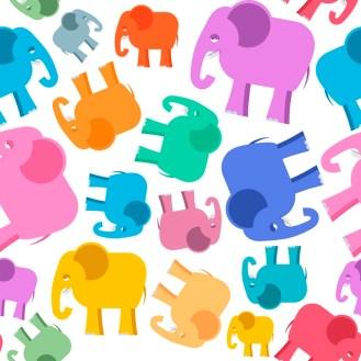 Minky Way Fabrics Elephants