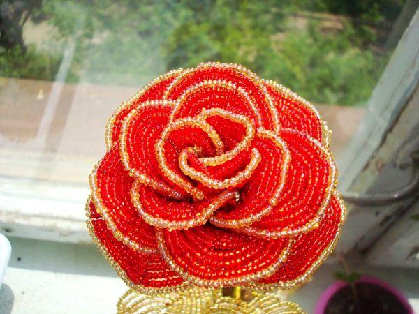 Ответы@Mail.Ru: Роза из бисера - схема плетения