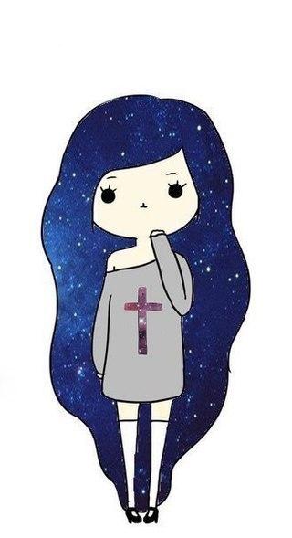 Картинка Девочки Нарисованной