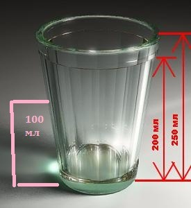 Ответы Mail.ru: 1/4 стакана воды это сколько? сколько стаканов