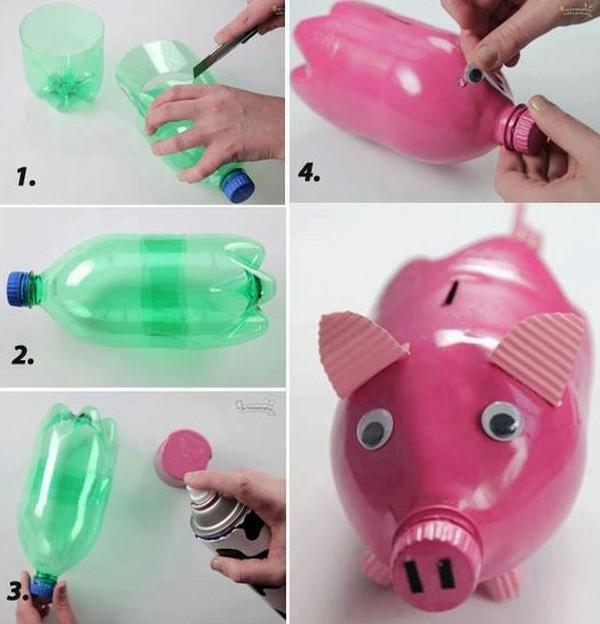 Поделки из пластиковых бутылок для сада, дачи. Детские ...