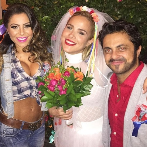 """Tammy Miranda com a cantora """"Wanessa"""" na festa julina da última quarta (22) (Foto: Reprodução/ Instagram/andressaferreira_oficial)"""