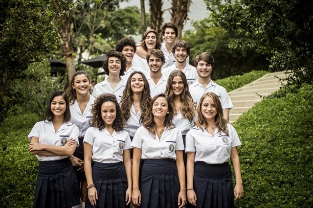 Alunos do colégio Leal Brazil (Foto: Globo/João Cotta)