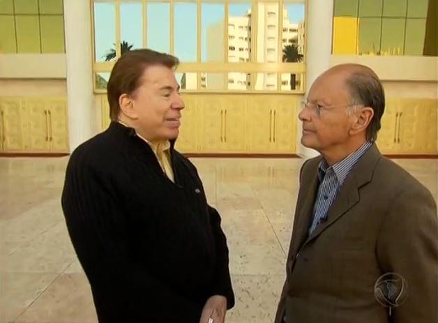 Silvio Santos e Edir Macedo (Foto: Reprodução / TV Record)