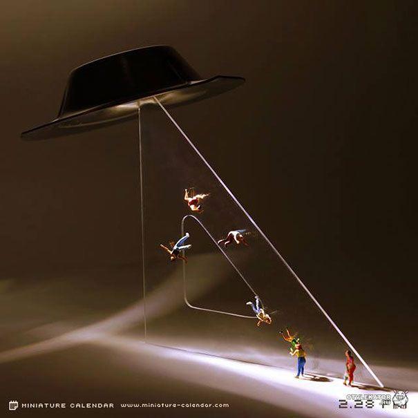 пришельцы похищают людей в миниатюре