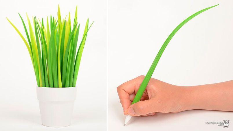 шариковая ручка эко в виде травы
