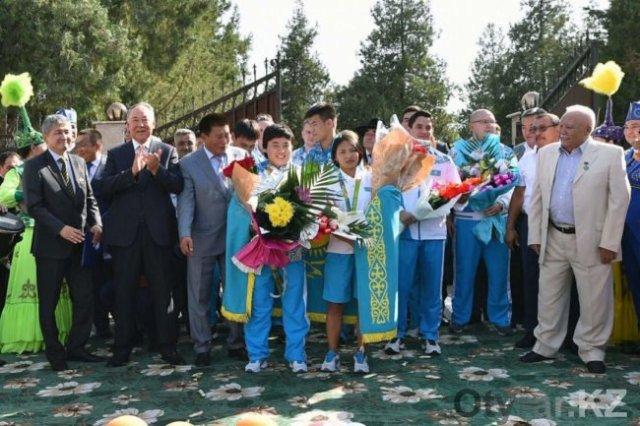 Шымкент встречает олимпийцев