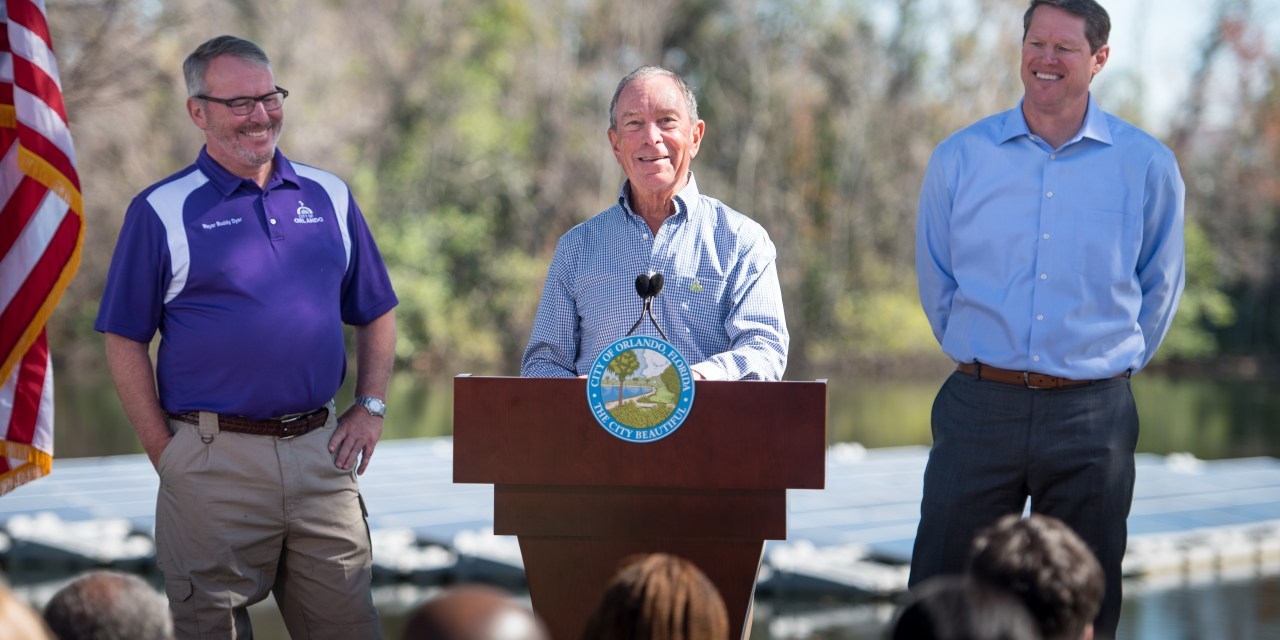 Michael Bloomberg Highlights Sustainability at OUC Facility