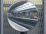 Pearse again... the end of plantform rear view mirror... yes, train drivers need mirrors as well...