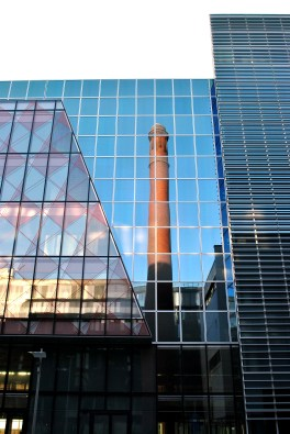Sep 13 - reflections and contrasts.... Dublin streets