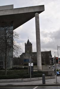 Christ Church Cathedral as seen from the steps of the Dublin City Council Building...
