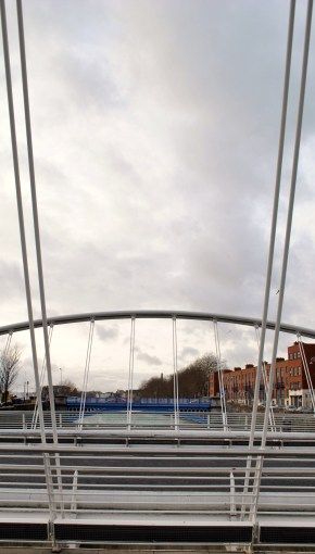 James Joyce Bridge, Dublin Ireland, detail...