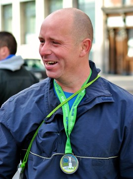 The happy face of a sub 3 hour runner! Good on you fella... I do hope you see this!!