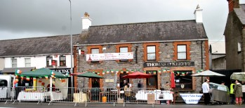 St Patrick's Day, Kilcock Ireland. We did a boerewors stand... beneath the green umbrella... food and fun in the cold!!