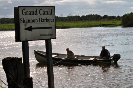 The Shannon side sign to the Grand Canal, Ireland