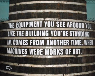 The large vat in the Guinness Storehouse... true words...