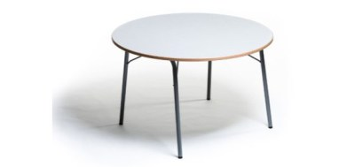 Table multiplat ronde pieds pliants