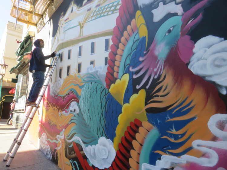 Chinatown Street art San Francisco Caifornie