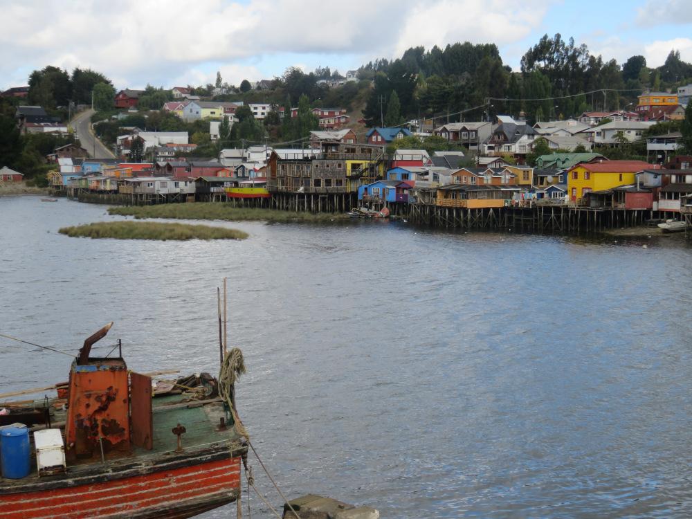 Maisons sur Piloti Castro Île Chiloé Chili