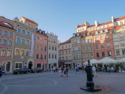 Pologne Varsovie Architecture colorée