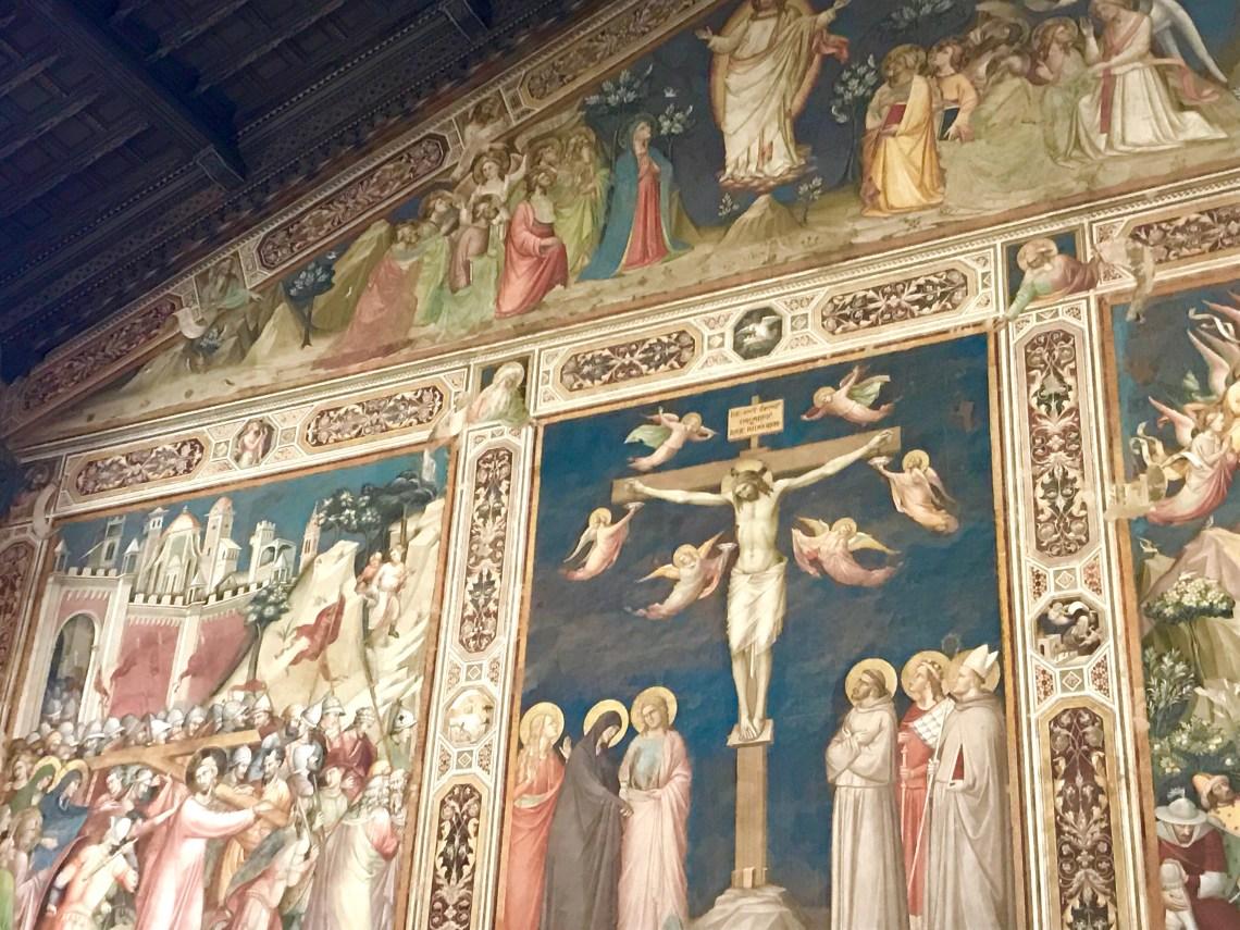 Fresco at the Basilica of Santa Croce