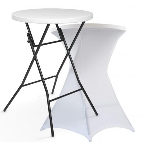 Table mange-debout et housse blanche location