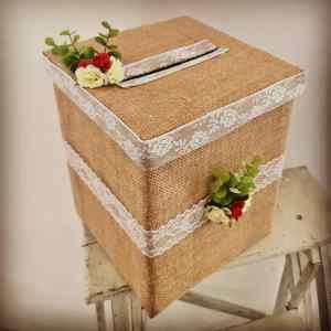 Urne décorée location mariage