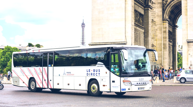 le bus direct到戴高樂和奧利機場