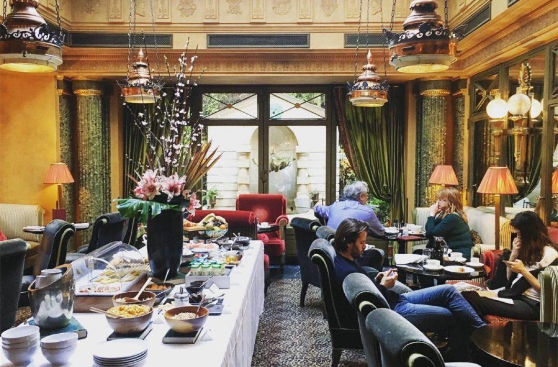 巴黎五星飯店 l'hotel 早餐用餐區