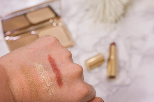 Charlotte Tilbury Bronze and Glow and Matte Revolution Swatch Bond Girl