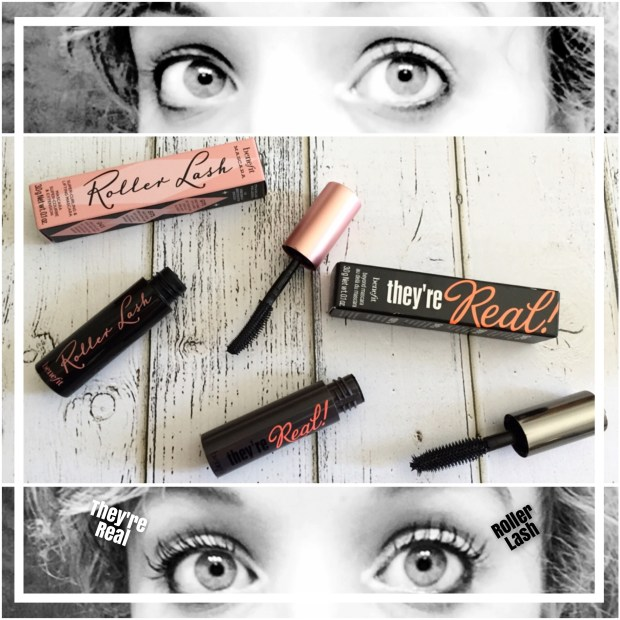 Benefit Mascara They're Real against Roller Lash Side by Side