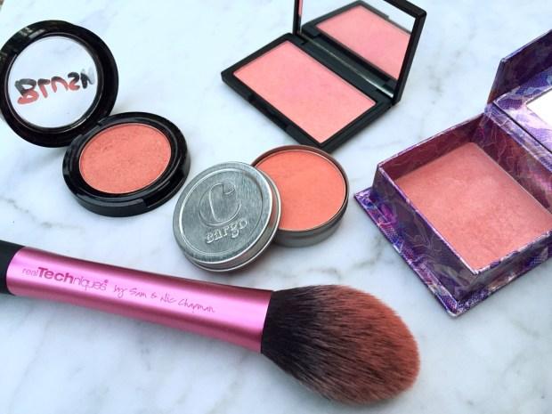Favorite Blushes Cargo Swimmables Sleek Rose Gold Benefit Bella Bamba ModelCo Peach Bellini