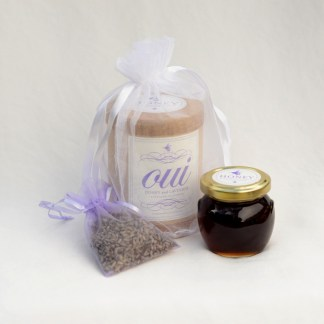 Oui Honey 3oz and lavender sachet