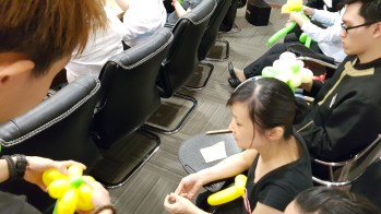 Balloon sculpting for Paradise group Singapore (2)