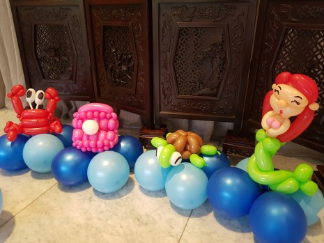 underwater theme table centerpiece balloon decorations (6)