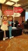 Balloon wedding couple retro 1.7m tall