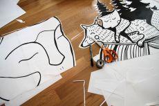6_Paperi elementtien leikkaus, piirto & teippaus