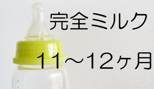 【完全ミルク】生後11~12ヶ月頃赤ちゃんの生活リズム・量・回数・間隔の記録