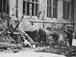 The Council House photographed on the morning of Good Friday after taking another pasting form the Luftwaffe