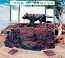 Statue of Red Dog in the town of Dampier