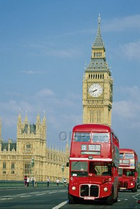 Big Ben, Westminster and London Buses